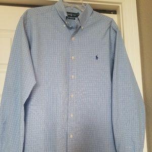 Ralph Lauren Mens XL classic fit LS blue checked
